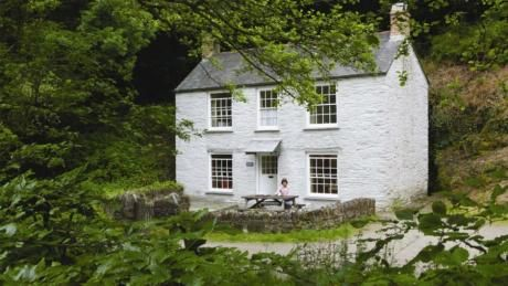 Exterior Of Danescombe Cottage Cotehele Estate Valley Calstock Cornwall