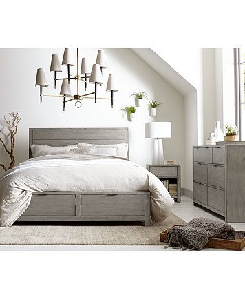 Tribeca Grey Storage Bedroom Furniture Collection, Only at Macy\'s ...