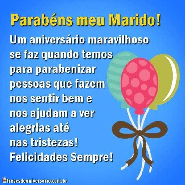Parabéns Meu Marido Felicidades Frases De Aniversário Parabéns