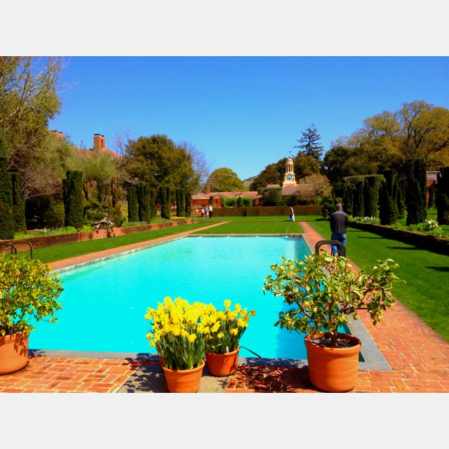 Pool filoli gardens a k a the carrington mansion in for Filoli garden pool