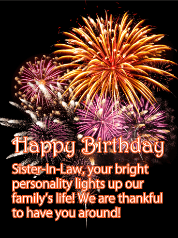 Bright Personality Happy Birthday Card For Sister In Law Birthday Greeting Cards By Davia Sister Birthday Card Birthday Greeting Cards Happy Birthday Sister