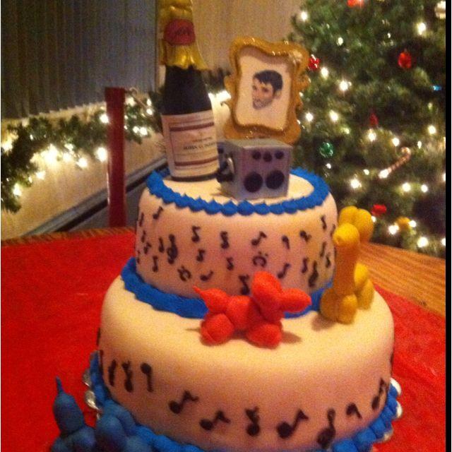 Karaoke wine and balloon animal birthday Cakes Cake Ideas