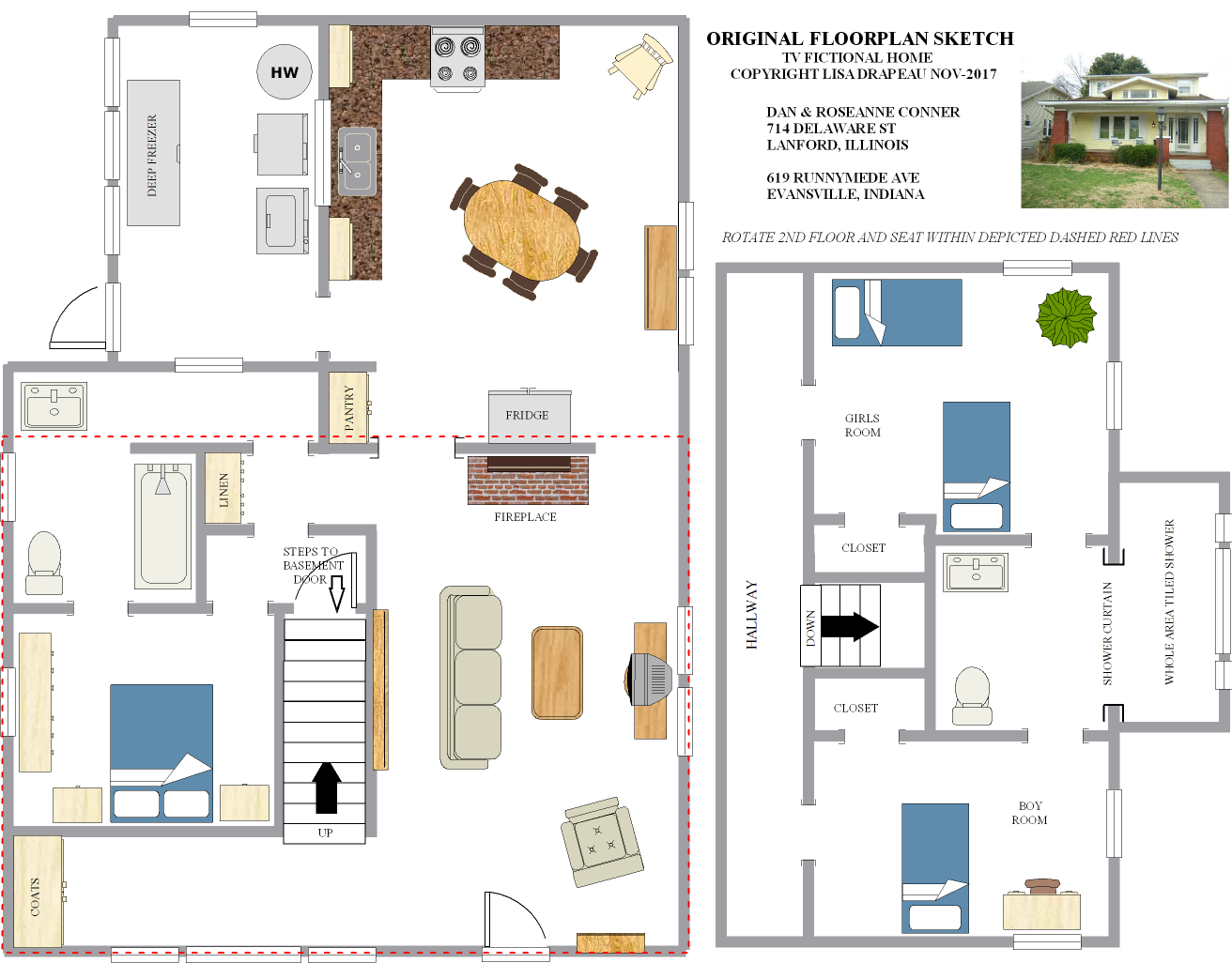 Dan & Roseanne Connor (Conner) Home Floor Plan, 714