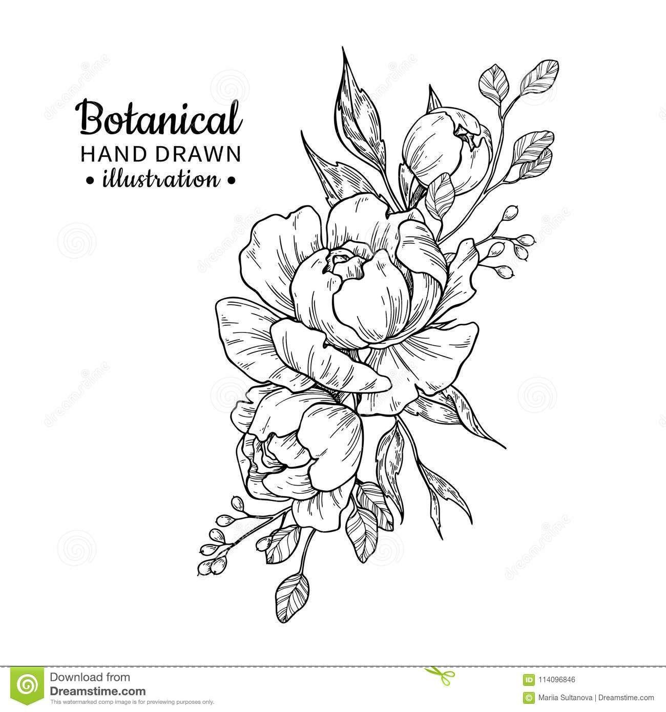 Tat image by Samsara Gayle Flower bouquet drawing