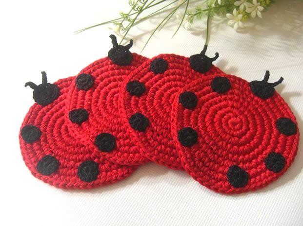 ladybug coasters ~ Inspiration … | Pinteres…