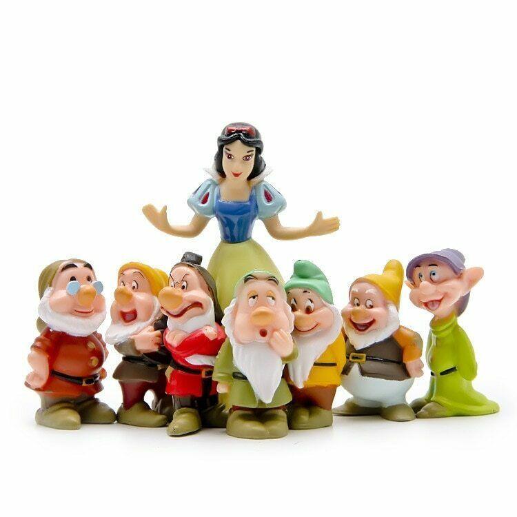 PAPWOO Terrarium Figurines 8 Pcs//Set Snow White /& The Seven Dwarfs Action Figure Miniatures Fairy Garden Statue Bonsai Decoration DIY Pedestrian Home Decoration Outdoor Ornaments Birthday Gifts