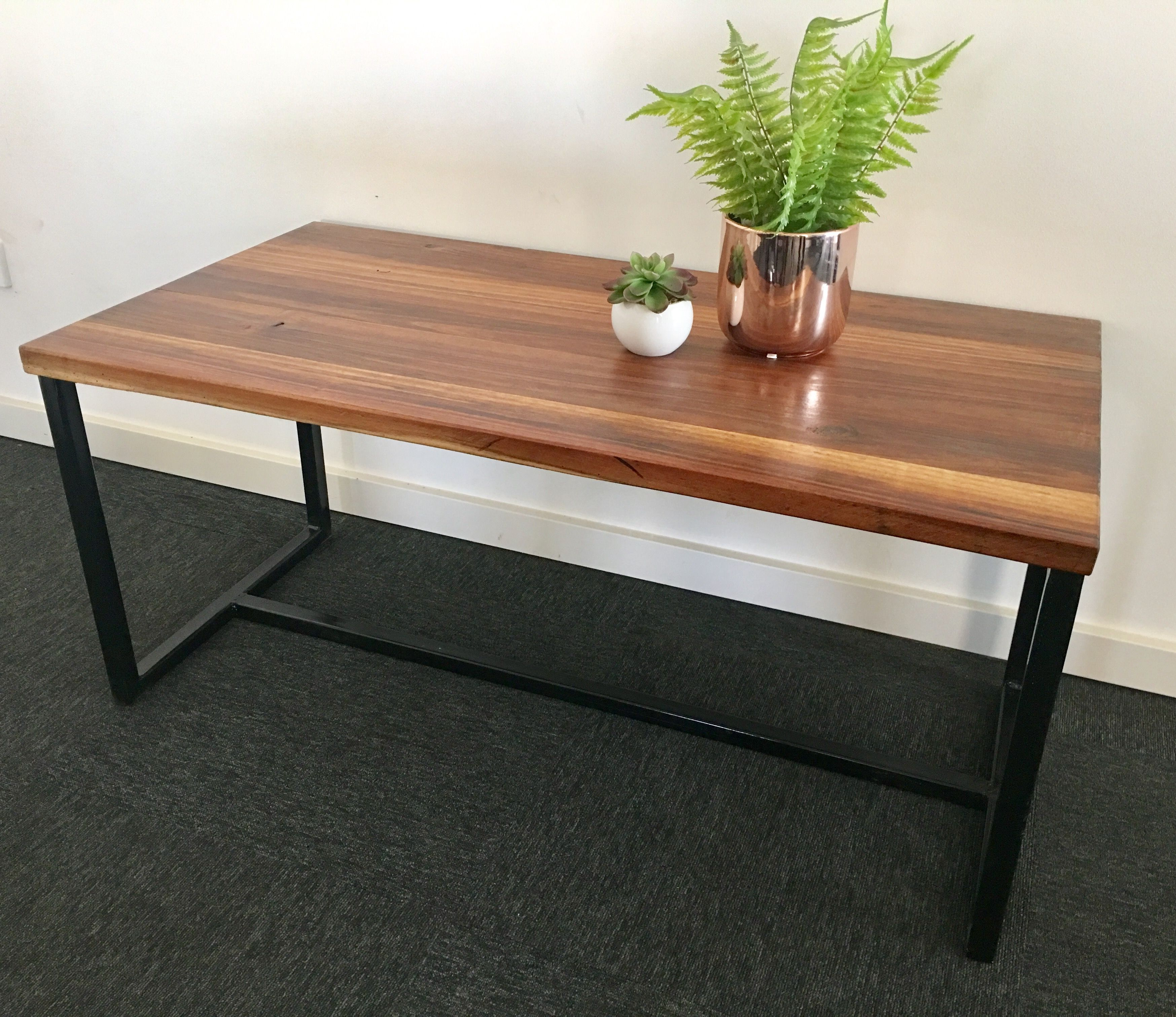 O Recycled Blackwood Industrial Coffee Table Made By  Recycledtimberfurnitureozcom