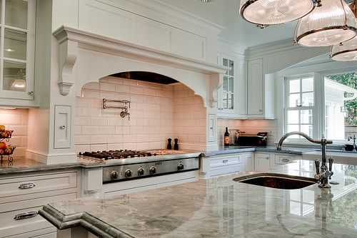 White Traditional Kitchen by Ronnie (Ronit) Fitucci, via Flickr