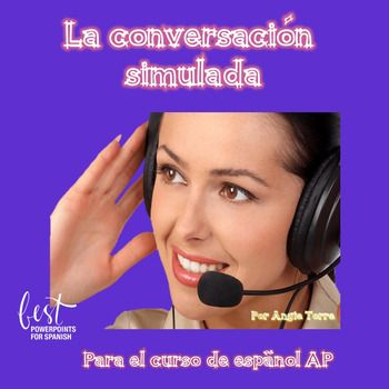 La Conversacion Simulada Powerpoint For Ap Spanish With Images