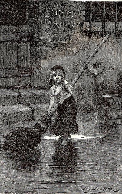 Les Misérables 'Cosette' by Émile Bayard | Les miserables, Poster prints, Victor hugo