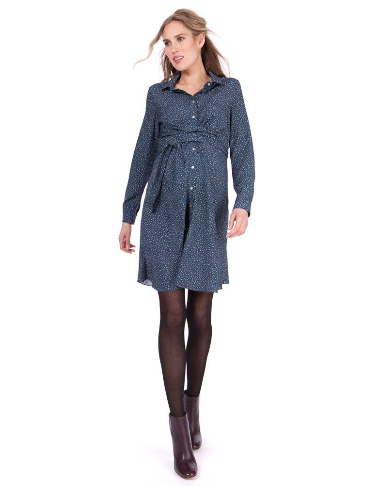 fdc6285134e1fc Blue Woven Maternity Shirt Dress | Seraphine | irena's style ...