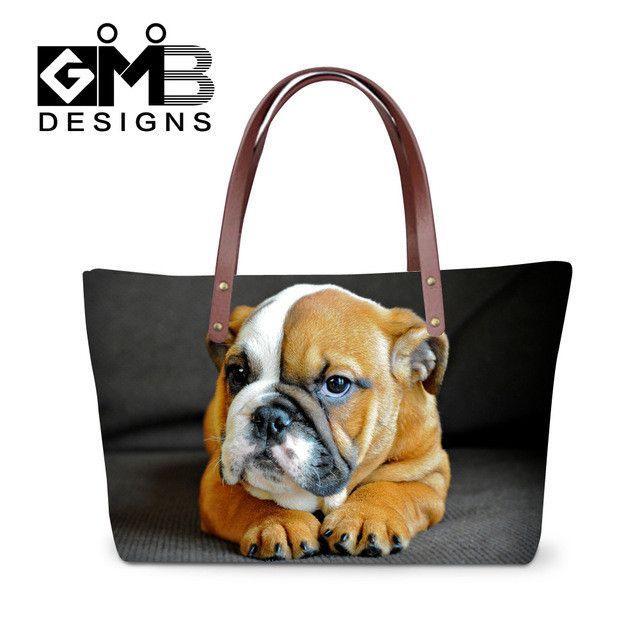 23b6ef78f2c Dispalang 3D personalized cat printing women handbags large capacity lady  shopping tote bags girls customized shoulder