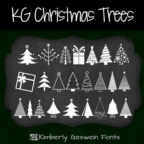 Kg Christmas Trees Kimberly Geswein Fonts Christmas Lettering Christmas Chalkboard Christmas Doodles