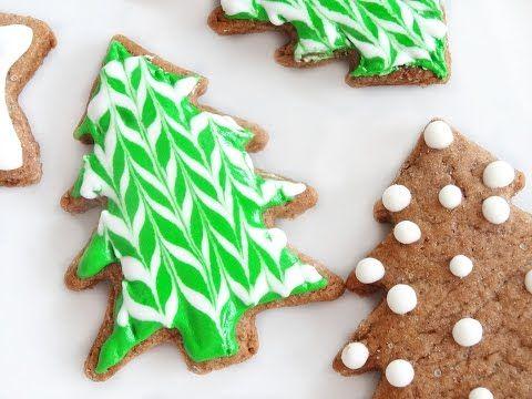 Dekorowanie Pierniczkow Lukrem Krolewskim Jodelkowa Choinka Youtube Sugar Cookie Desserts Food