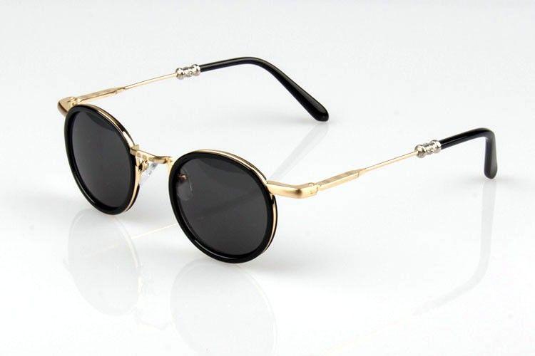 #Gold Arm #Retro Small Round #Sunglasses