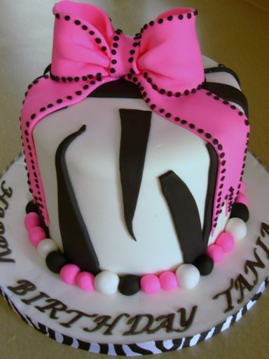 Zebra Print Birthday Cake My Sister In Law Made A Cake That