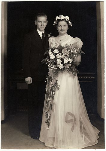 Alta & Walt's Wedding 1938 by Josh Phillipson, via Flickr