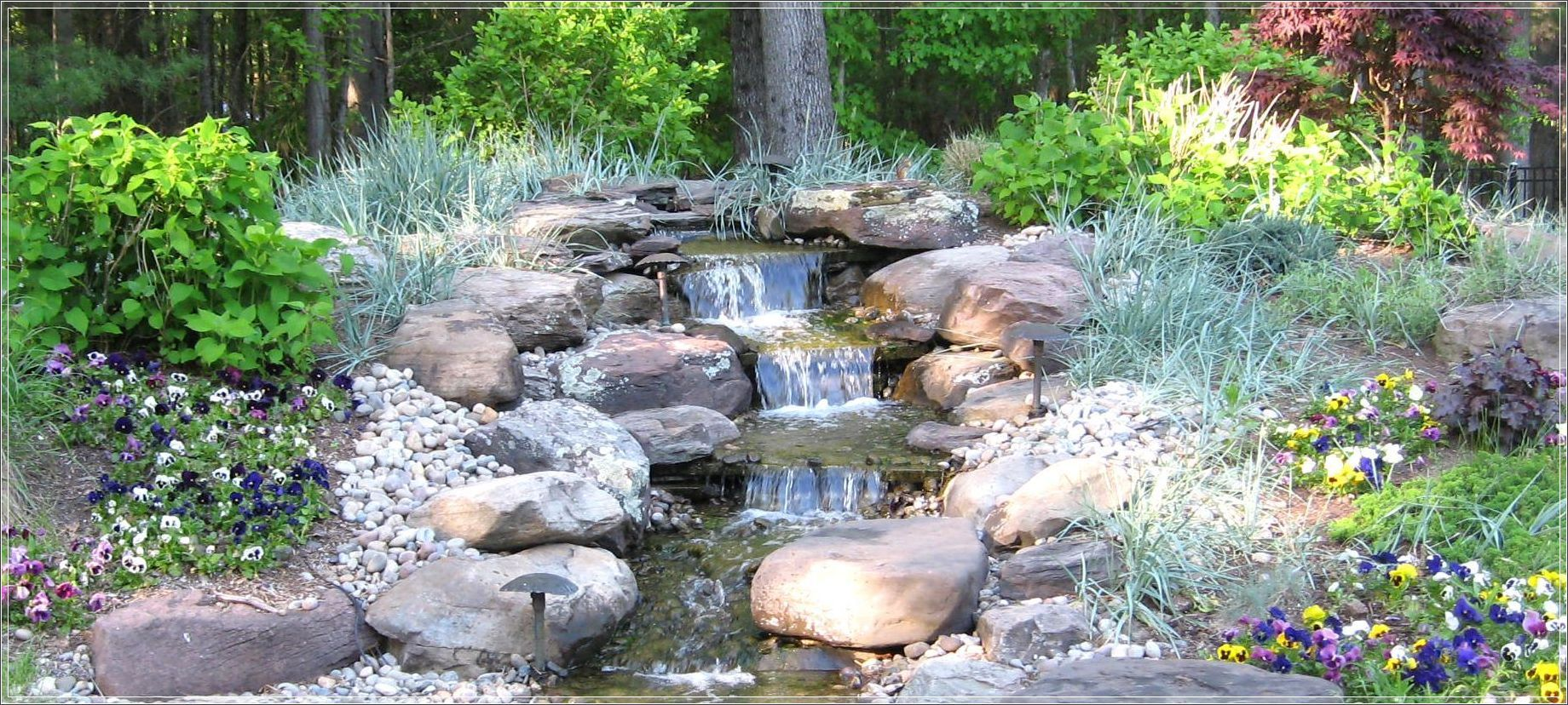 This Front Yard Landscape Plan Combines Cost Effective Plants And Products That Low Water Gardening Water Features In The Garden Low Maintenance Landscaping