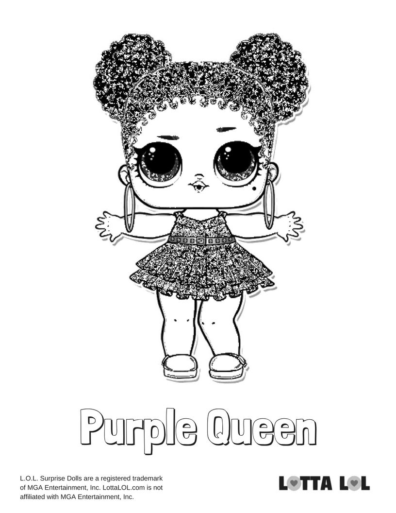 Purple Queen Coloring Page | LOL Surprise Series Coloring Pages ...