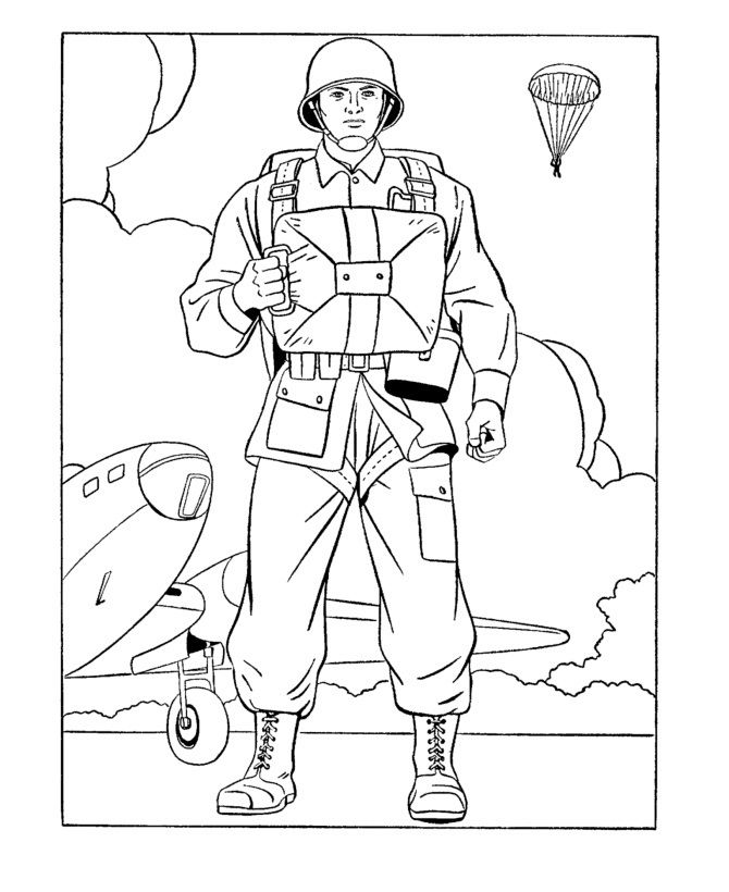 Army Guy Coloring Pages : coloring, pages, Printable, Coloring, Pages, Veterans, Page,, Kids,