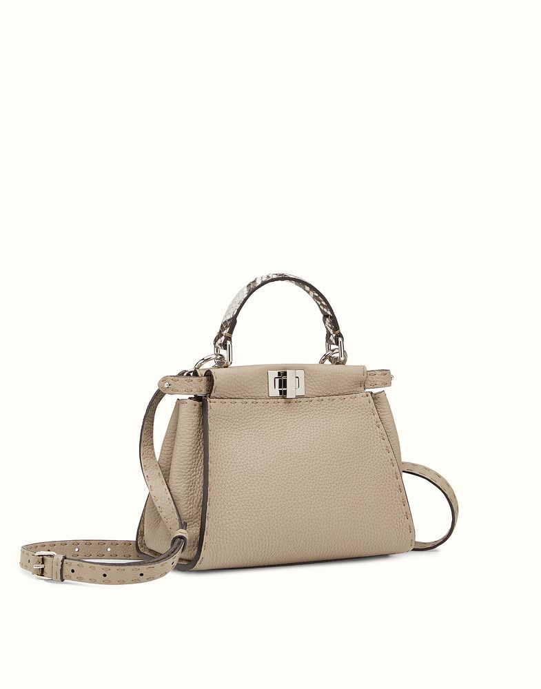 4441bf6ad479 FENDI PEEKABOO MINI - Dove-gray Selleria handbag - view 2 detail
