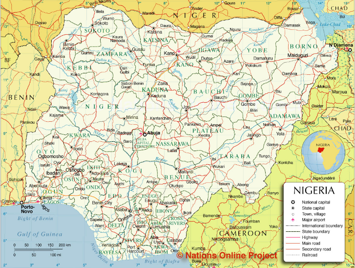Map Of Nigeria Showing The States Google Search MAPS - Map of nigeria