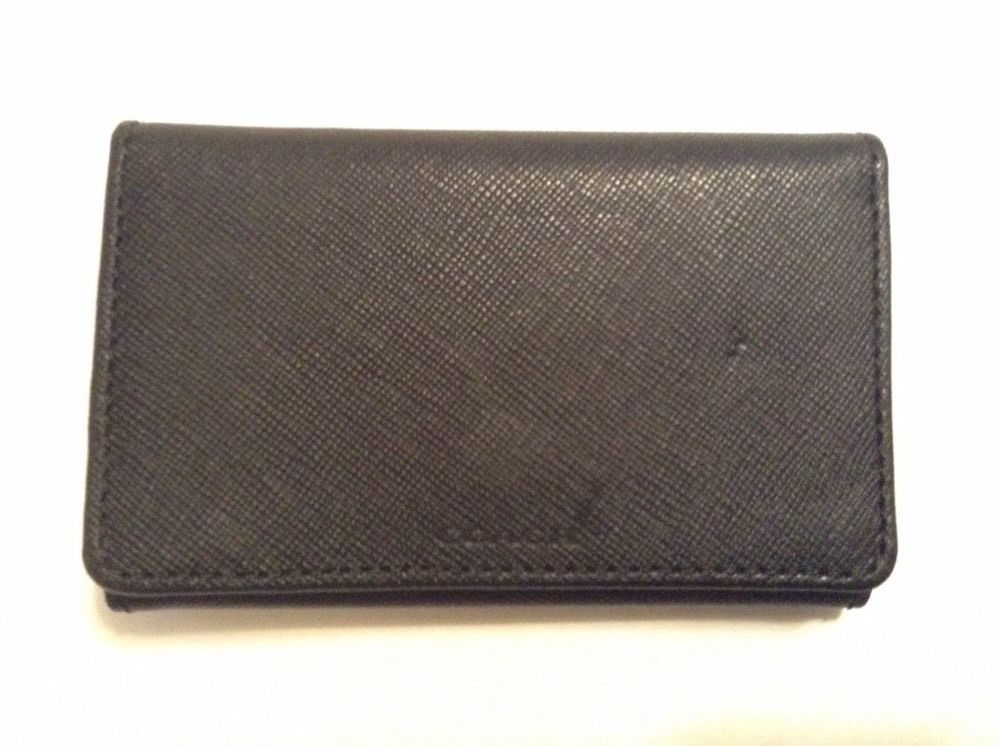cbe82a3e35 NWOT Authentic Coach Signature 6 Ring Key Case Holder Black Leather ...