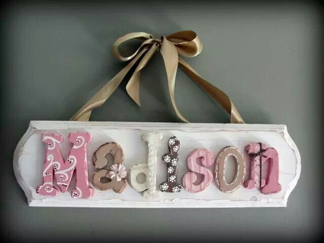 Baby Name Signs For Nursery Diy ~ TheNurseries