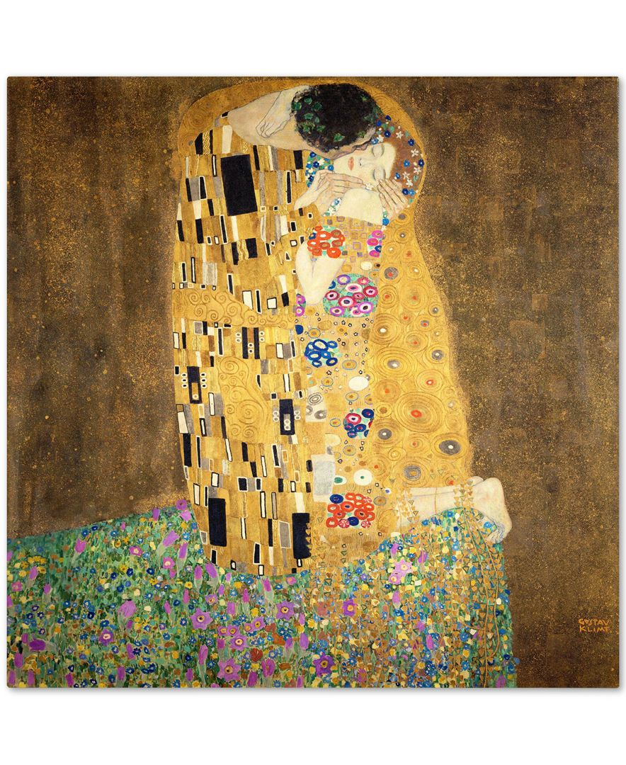 Gustav Klimt \'The Kiss 1907-8\' Canvas Wall Art | Pinterest | Klimt ...