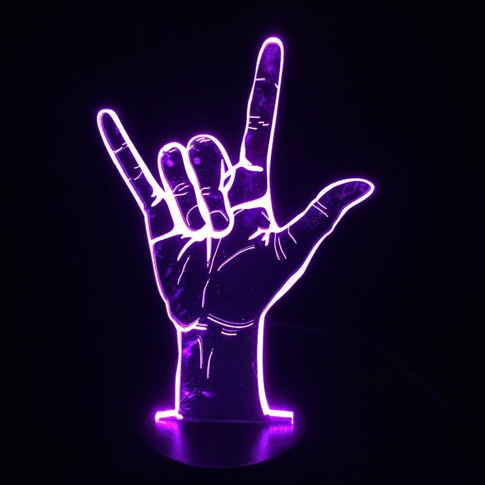 Rock 'n' Roll 3D Illusion Lamp
