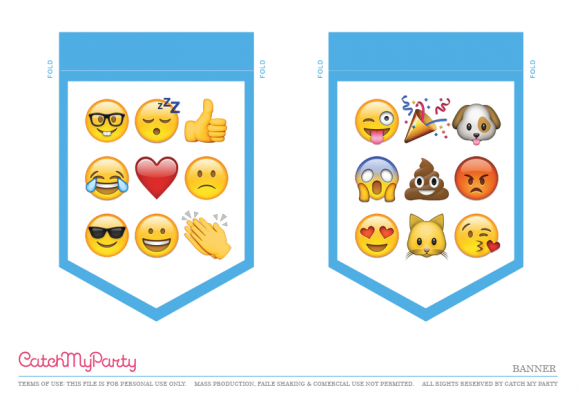Free Emoji Party Printable Happy Birthday Banner