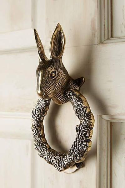 We Adore This Elegant Hare Door Knocker Perfect For The