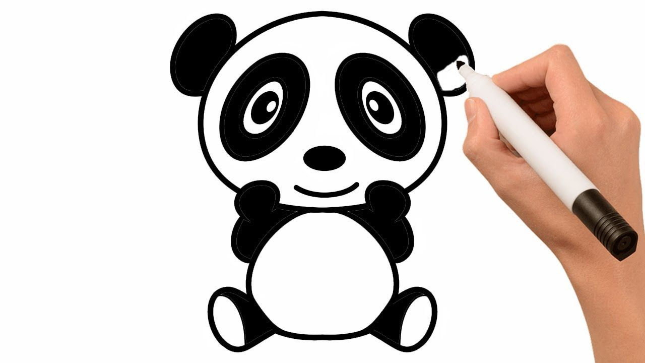 Draw So Cute Panda Painting For Toddlers And Drawing For Kids Cute Panda Drawing Panda Drawing Drawing For Kids