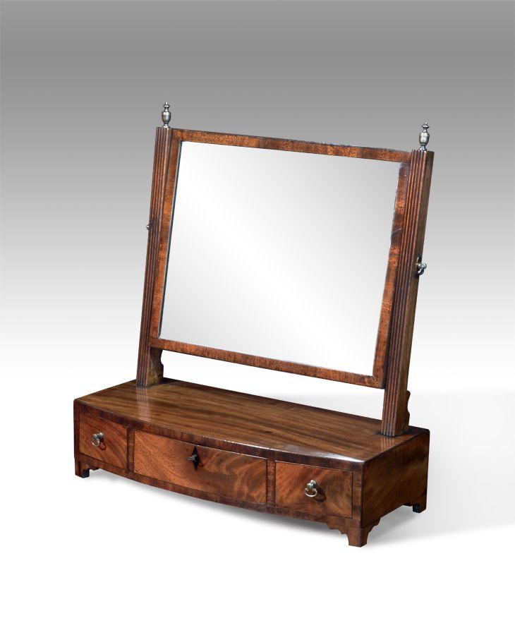 George Iii Mahogany Toilet Mirror Circa 1820 Interieur