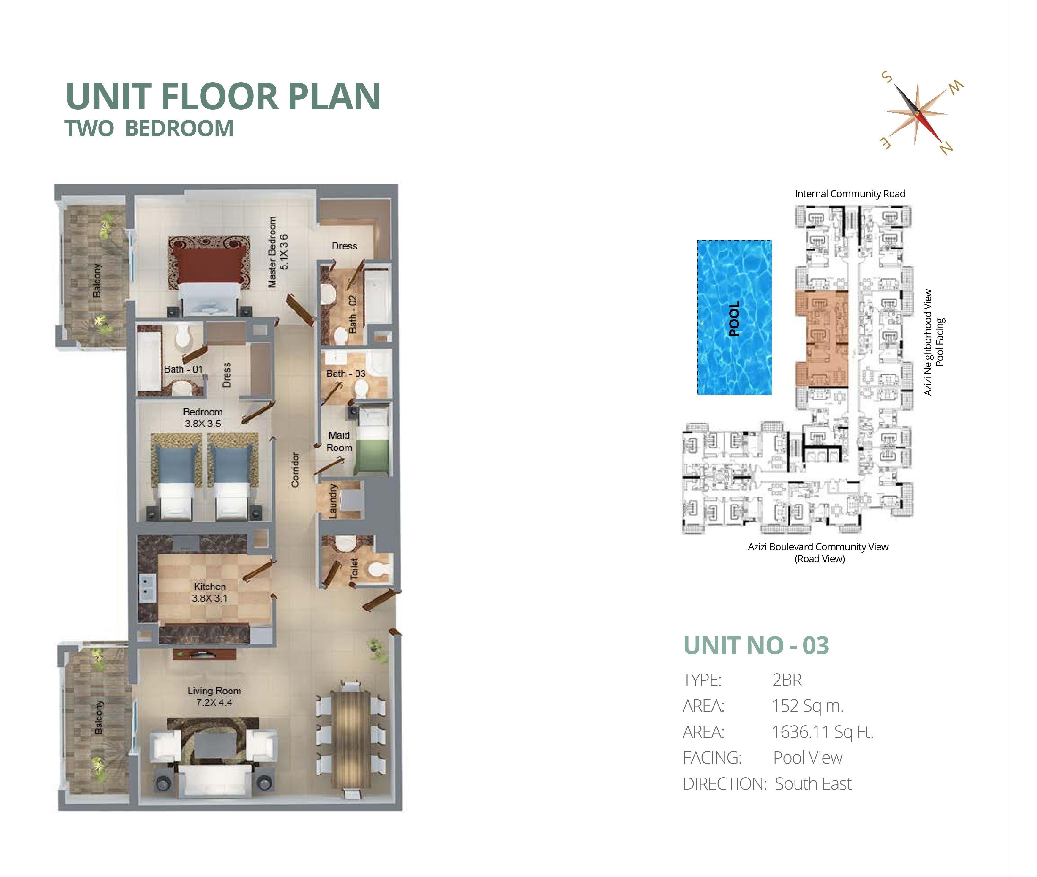 Feirouz Floorplans - Furjan, Dubai