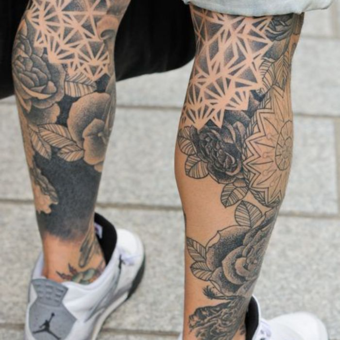 Guys That Have Calf Tattoos Live In Shorts Majority Of The