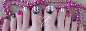 Prettyfulz: KONAD PEDICURE | Pink & Black Leopard Nail Art Design & TUTORIAL!!