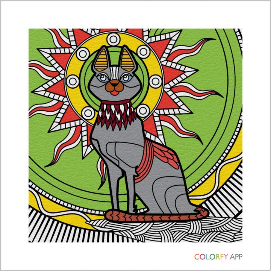 И ещё одна кошка. Выполнено в приложении Colorfy | Кошки ...