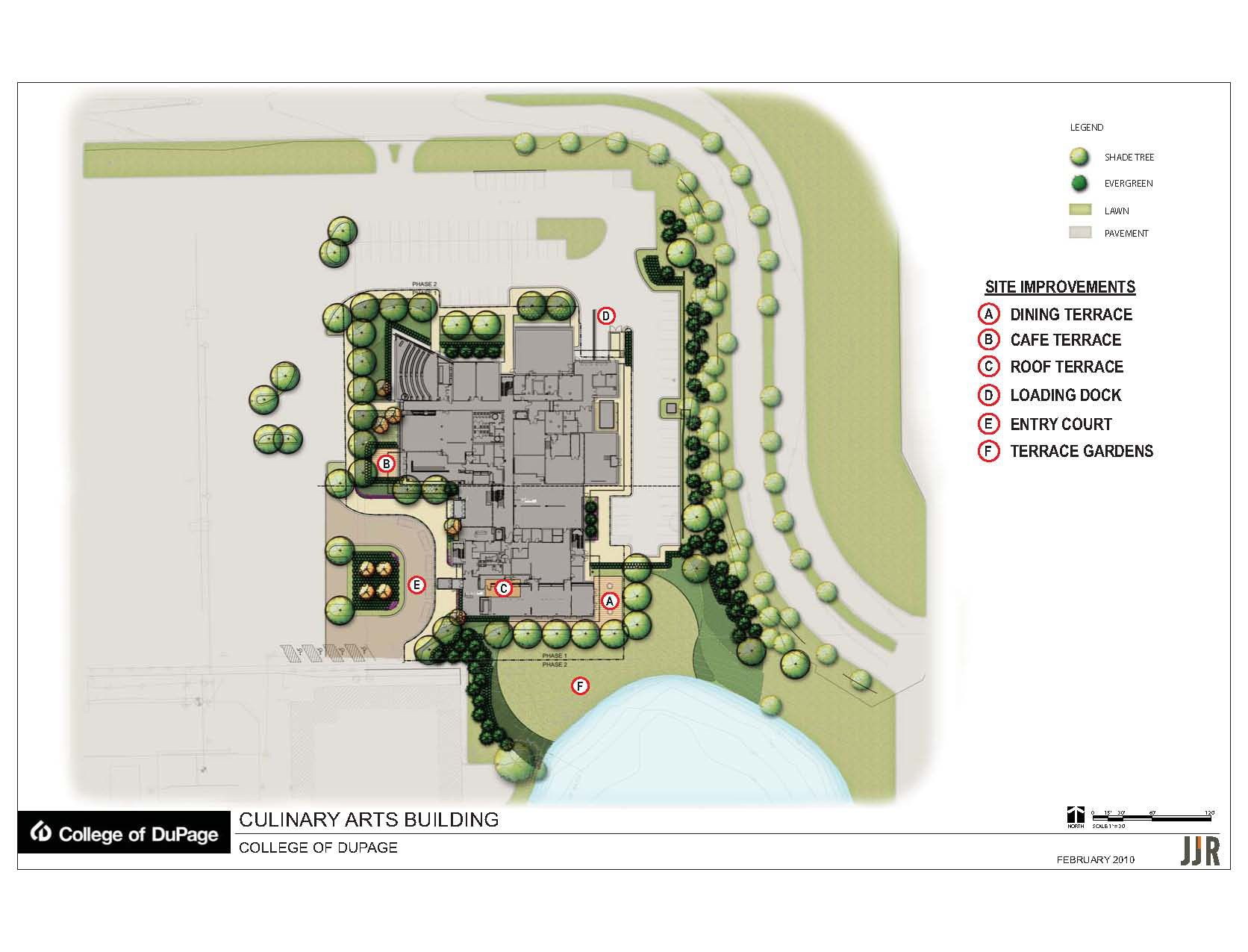Rendered Architectural Site Plan Uj Architecture Third