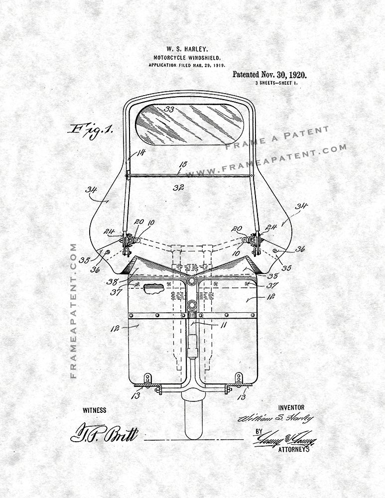 Pin By Frame A Patent On Motorcycle Patent Prints