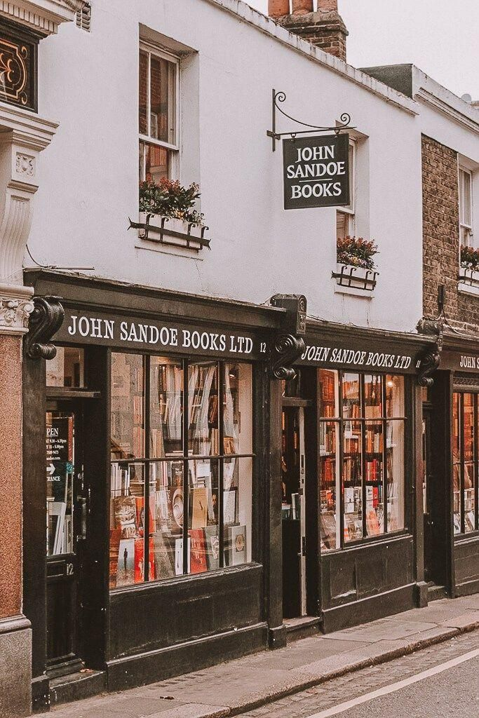 #whatshotblog  #bookshopporn  #bookstagram  #bookshops  #travelLondon #Sandoe #Books. John Sandoe Books. These are 15 of the most beautiful bookshops in London. London is home to some of the most beautiful bookshops in the world. These are all independent bookshops in London and they stock a variety of old and new, fiction and non-fiction etc. Perfect for bookworms in London!