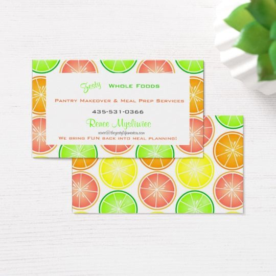 Citrus Fruit Print Lemon Lime Orange Grapefruit Business