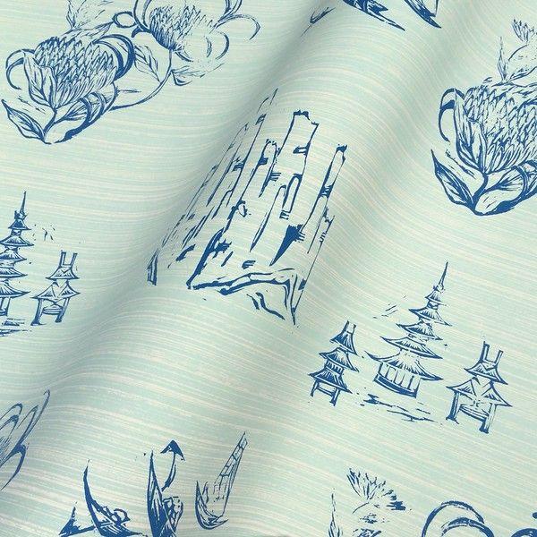 Toile In Mint Sl110 02 Wallpaper Interior Design Trade Wall Covering