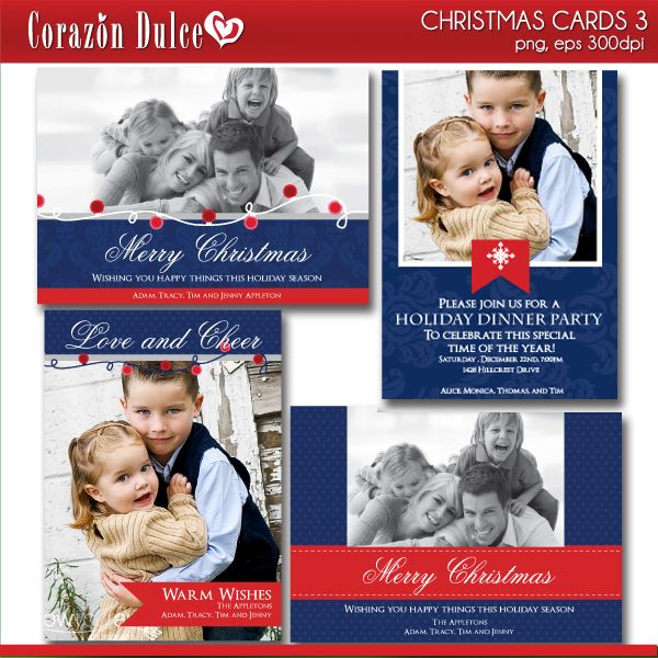 Make this Christmas special with these beautiful templates  send joyful wishes to your loved ones!!  These cards are perfect for Christmas dinner invites, Thank you cards, Place cards, Scrapbooking and many more!!.
