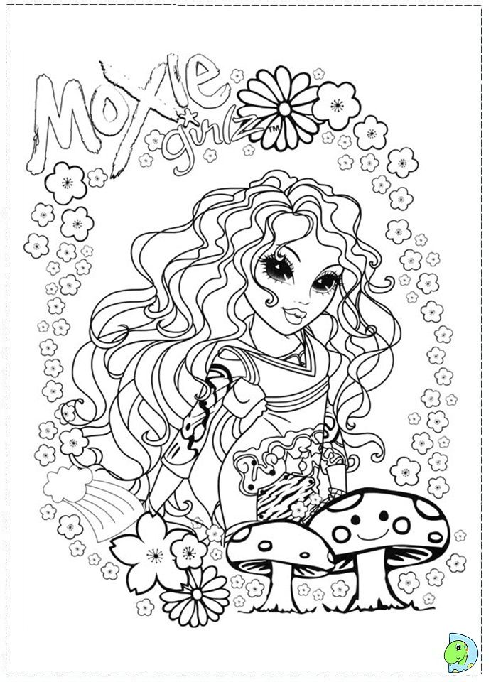 Moxie Girlz colouring page | ✐Colouring~Bratz~Monster High~Moxie ...