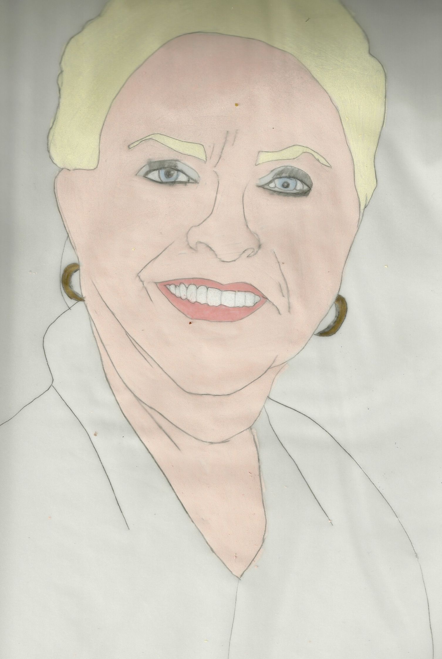 Stephanie AKA Susan Flannery Drawing done with prisma color Colored pencils and charcoal pencil
