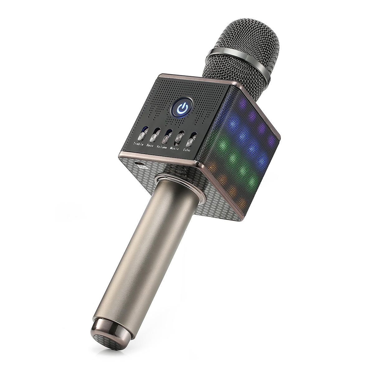 [US$53.58] H8 LED Wireless Microphone Mic Built in Bluetooth Speaker Mini Handheld Cell Phone Karaoke Player #wireless #microphone #built #bluetooth #speaker #mini #handheld #cell #phone #karaoke #player #karaokeplayer