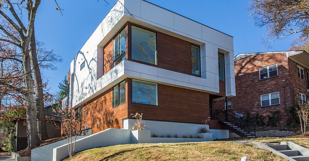 New Midtown Modern Near Piedmont Park Called A Statement At 1 37m Piedmont Park