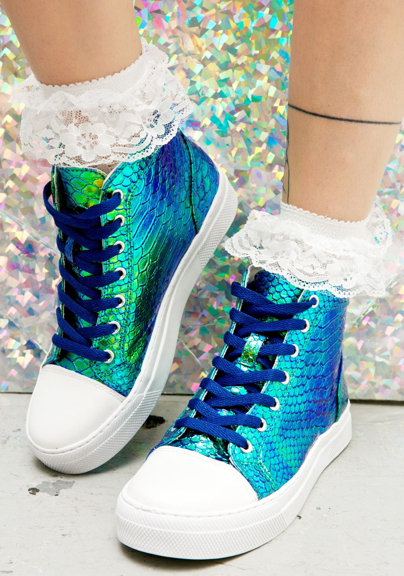 0a3f79a59fd47 Mermaid Scale High Top Sneakers  45