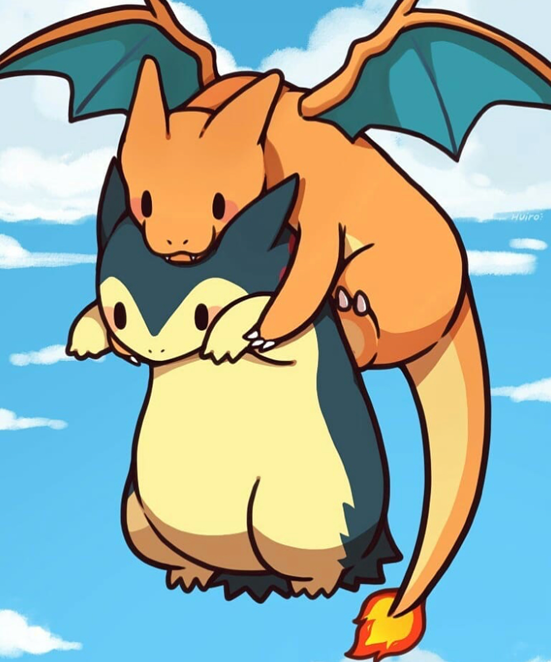 38693d142 Charizard and Typhlosion | Pokemon Art | Pokémon, Pokemon pictures ...